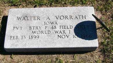 VORRATH, WALTER A. - Adair County, Iowa | WALTER A. VORRATH