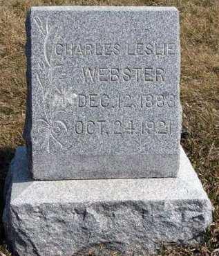 WEBSTER, CHARLES LESLIE - Adair County, Iowa | CHARLES LESLIE WEBSTER