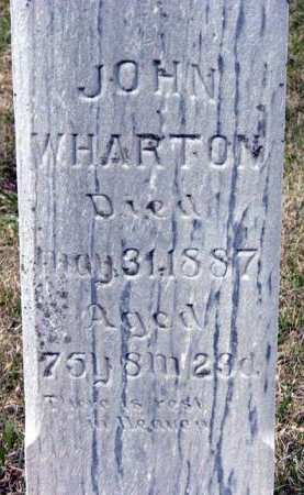 WHARTON, JOHN - Adair County, Iowa   JOHN WHARTON