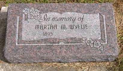 WYLLIE, MARTHA M. - Adair County, Iowa | MARTHA M. WYLLIE