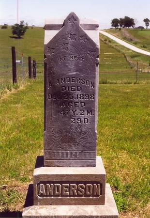 ANDERSON, ANDREW JOHN - Adams County, Iowa | ANDREW JOHN ANDERSON