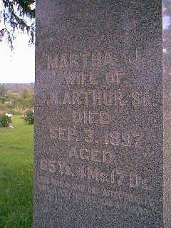 ARTHUR, MARTHA J. - Adams County, Iowa   MARTHA J. ARTHUR