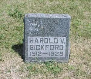 BICKFORD, HAROLD V. - Adams County, Iowa   HAROLD V. BICKFORD