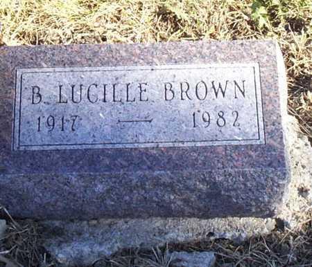 BROWN, B. LUCILLE - Adams County, Iowa | B. LUCILLE BROWN