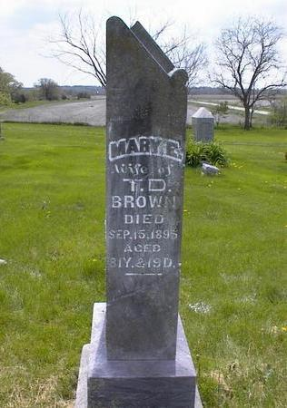 BROWN, MARY E. - Adams County, Iowa | MARY E. BROWN