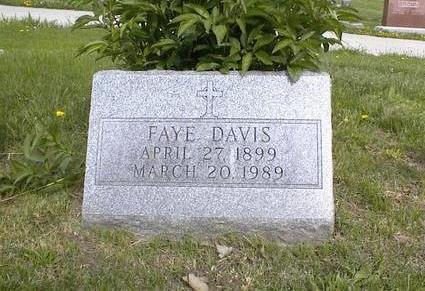DAVIS, FAYE - Adams County, Iowa | FAYE DAVIS