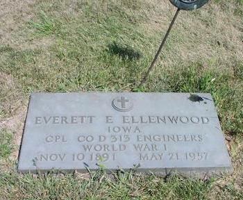 ELLENWOOD, EVERETT E. - Adams County, Iowa   EVERETT E. ELLENWOOD