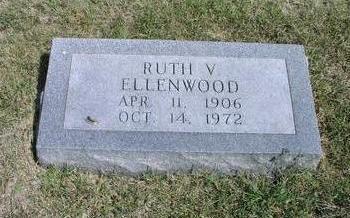 ELLENWOOD, RUTH V. - Adams County, Iowa   RUTH V. ELLENWOOD