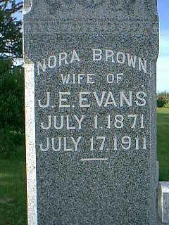 EVANS, NORA BROWN - Adams County, Iowa | NORA BROWN EVANS