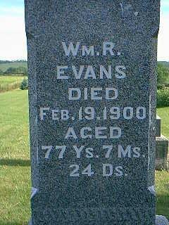 EVANS, WM R - Adams County, Iowa   WM R EVANS
