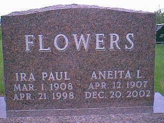 FLOWERS, IRA PAUL - Adams County, Iowa   IRA PAUL FLOWERS