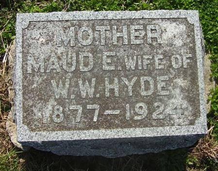 HYDE, MAUD ELNORA - Adams County, Iowa | MAUD ELNORA HYDE