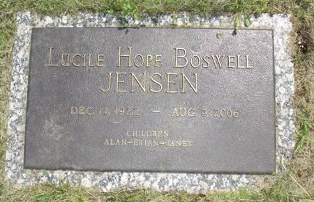 BOSWELL JENSEN, LUCILE HOPE - Adams County, Iowa | LUCILE HOPE BOSWELL JENSEN