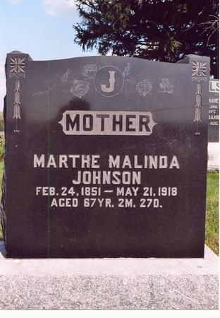 JOHNSON, MARTHA MALINDA (HENDRICKSON) - Adams County, Iowa | MARTHA MALINDA (HENDRICKSON) JOHNSON