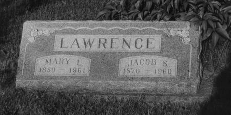 LINCOLN LAWRENCE, MARY L - Adams County, Iowa | MARY L LINCOLN LAWRENCE
