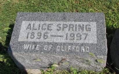 EMBREE SPRING, ALICE - Adams County, Iowa | ALICE EMBREE SPRING