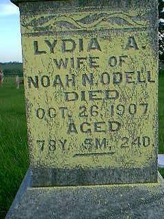 ODELL, LYDIA A. - Adams County, Iowa   LYDIA A. ODELL