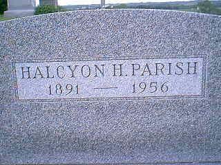 PARISH, HALCYON H. - Adams County, Iowa | HALCYON H. PARISH