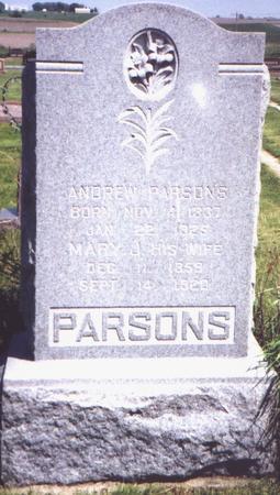 BOHANON-CULVER PARSONS, MARY - Adams County, Iowa | MARY BOHANON-CULVER PARSONS
