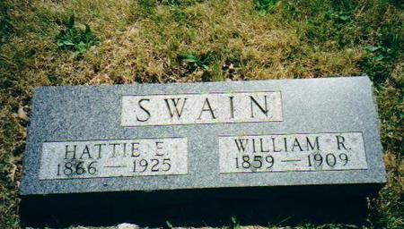 SWAIN, WILLIAM R. AND HATTIE E. - Adams County, Iowa | WILLIAM R. AND HATTIE E. SWAIN