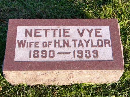 TAYLOR, NETTIE VYE - Adams County, Iowa | NETTIE VYE TAYLOR