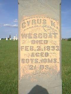 WESCOAT, CYRUS - Adams County, Iowa | CYRUS WESCOAT