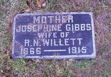 GIBBS WILLETT, JOSEPHINE - Adams County, Iowa | JOSEPHINE GIBBS WILLETT