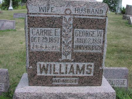 WILLIAMS, CARRIE E. - Adams County, Iowa | CARRIE E. WILLIAMS