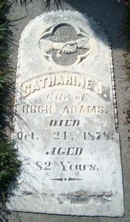 ADAMS, CATHARINE J. - Allamakee County, Iowa   CATHARINE J. ADAMS