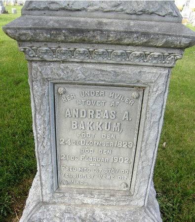 BAKKUM, ANDREAS A. - Allamakee County, Iowa | ANDREAS A. BAKKUM