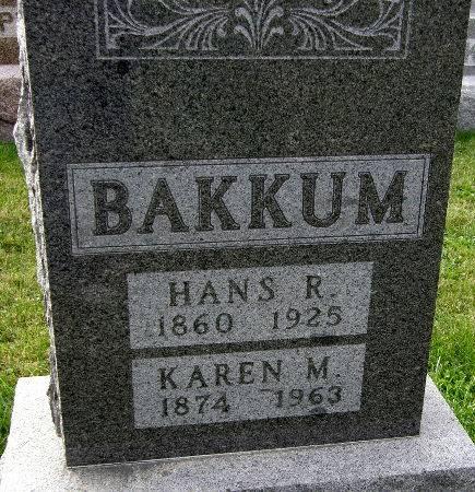 BAKKUM, KAREN M. - Allamakee County, Iowa   KAREN M. BAKKUM