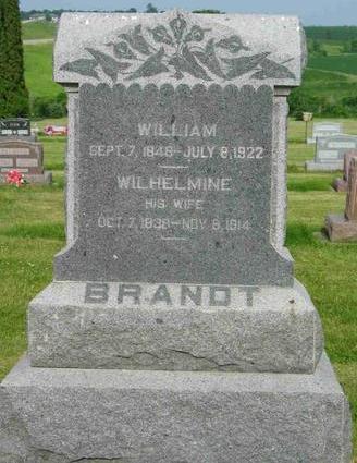 BRANDT, WILHELMINE - Allamakee County, Iowa | WILHELMINE BRANDT