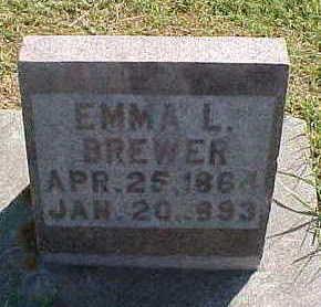 BREWER, EMMA  L. - Allamakee County, Iowa | EMMA  L. BREWER