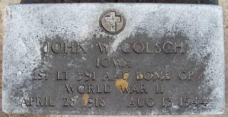 COLSCH, JOHN W. - Allamakee County, Iowa | JOHN W. COLSCH