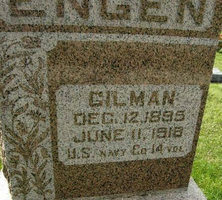 ENGEN, GILMAN - Allamakee County, Iowa   GILMAN ENGEN