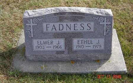 FADNESS, ELMER J. - Allamakee County, Iowa   ELMER J. FADNESS