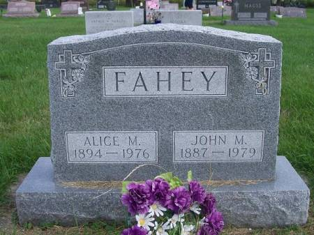 MALONE FAHEY, ALICE - Allamakee County, Iowa | ALICE MALONE FAHEY