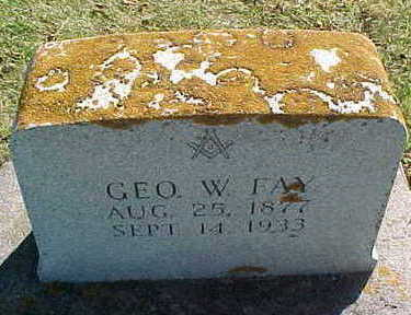 FAY, GEORGE  W. - Allamakee County, Iowa   GEORGE  W. FAY