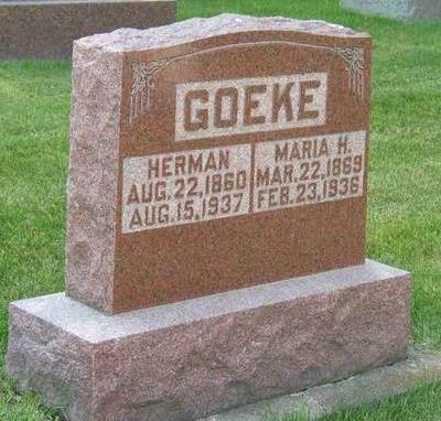 KRUMME GOEKE, MARIA - Allamakee County, Iowa | MARIA KRUMME GOEKE