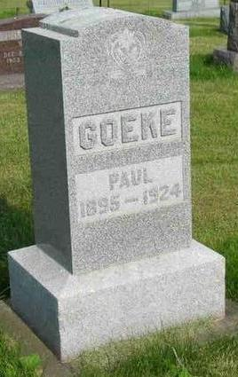 GOEKE, PAUL - Allamakee County, Iowa   PAUL GOEKE