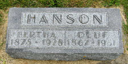 HANSON, OLUF - Allamakee County, Iowa   OLUF HANSON