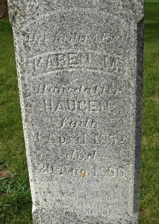 HANSDATTER HAUGEN, KAREN M. - Allamakee County, Iowa | KAREN M. HANSDATTER HAUGEN
