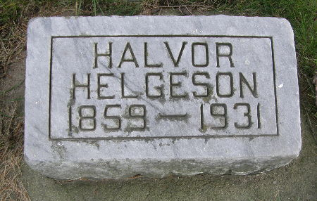 HELGESON, HALVOR - Allamakee County, Iowa | HALVOR HELGESON