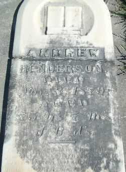 HENDERSON, ANDREW - Allamakee County, Iowa   ANDREW HENDERSON