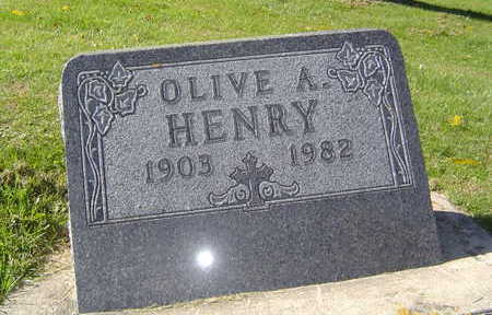 HENRY, OLIVE A. - Allamakee County, Iowa   OLIVE A. HENRY