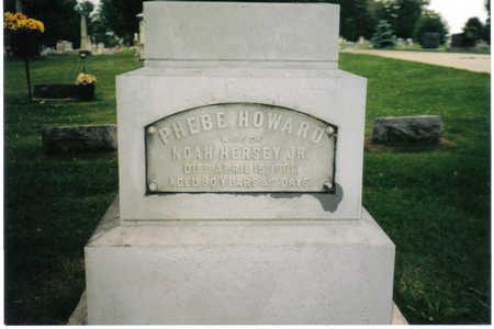 HOWARD HERSEY, PHEBE - Allamakee County, Iowa | PHEBE HOWARD HERSEY