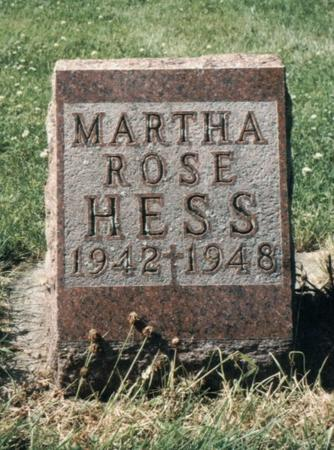 HESS, MARTHA ROSE - Allamakee County, Iowa | MARTHA ROSE HESS