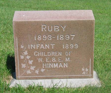 HINMAN, RUBY & INFANT - Allamakee County, Iowa   RUBY & INFANT HINMAN