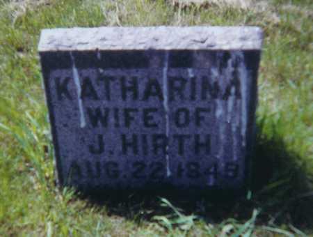 HIRTH, A KATHARINA - Allamakee County, Iowa | A KATHARINA HIRTH