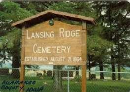 LANSING RIDGE, CEMETERY - Allamakee County, Iowa | CEMETERY LANSING RIDGE
